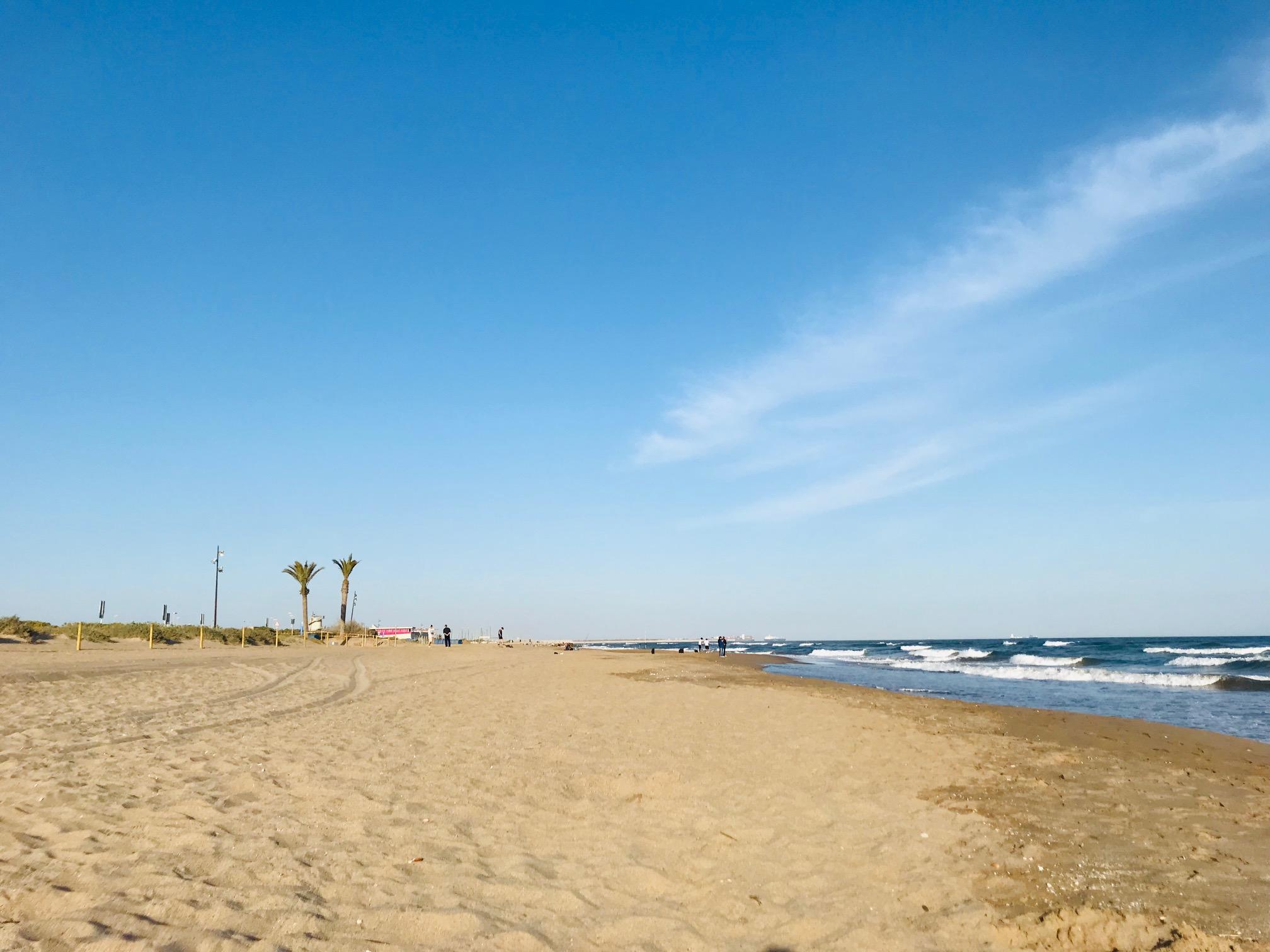 Playa virgen de Can Camins, El Prat de Llobregat